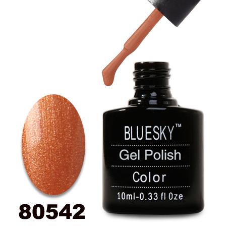 картинка Гель лак  Bluesky 80542-Бронзово-перламутровый с микроблеском от магазина Gumla.ru
